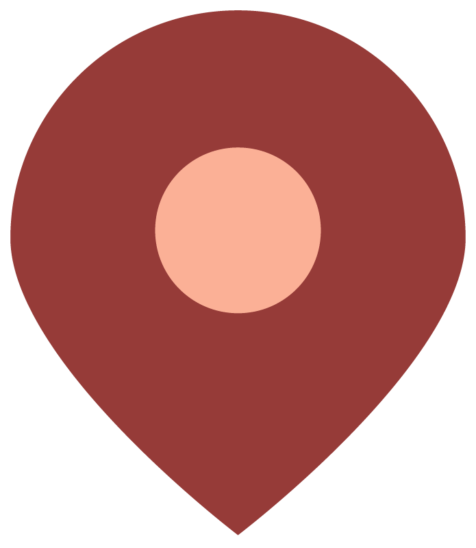 The logo for Chloe's Cultural Latitudes project - a red map pin.